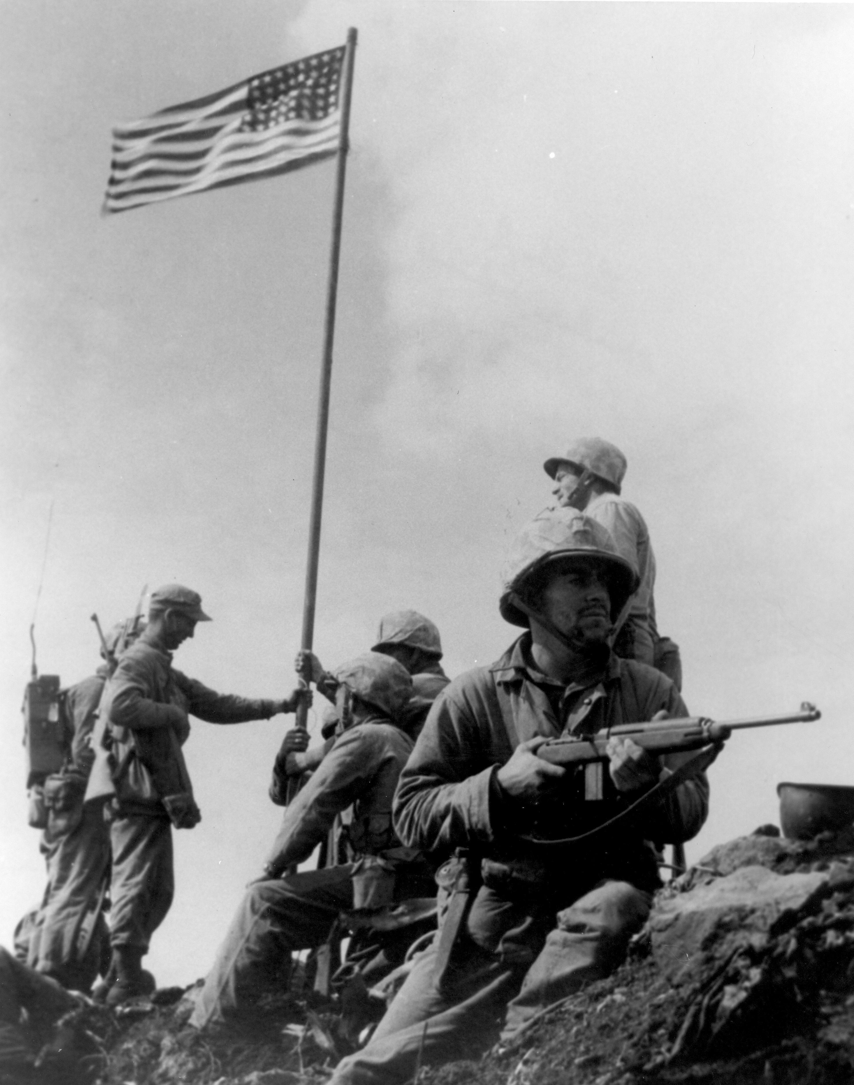First_Iwo_Jima_Flag_Raising - Lowery