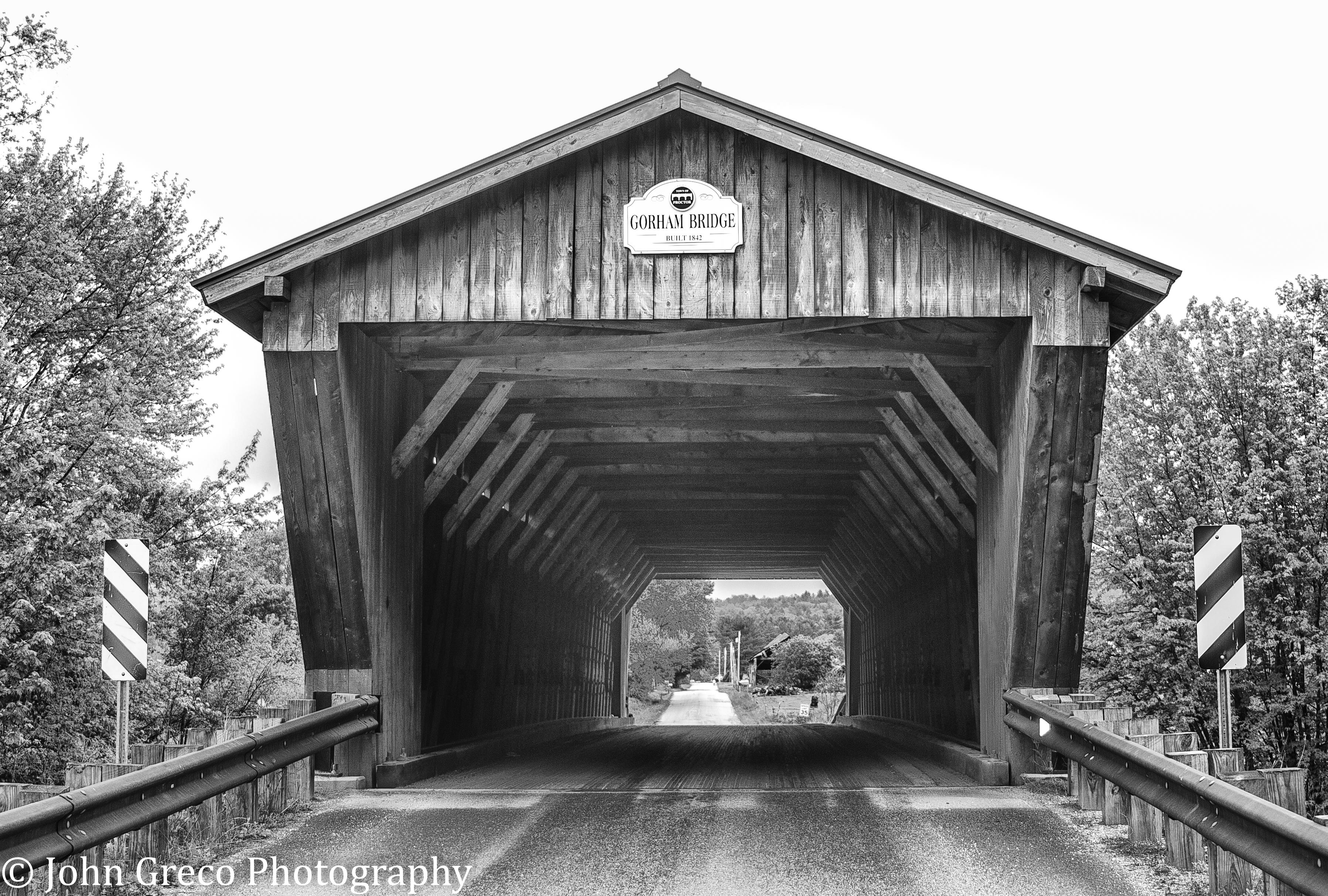 Gorham Bridge VT B&W CW-