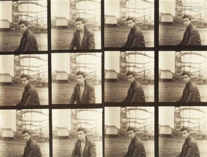 astrid-kirchherr-george-harrison-contact-sheet